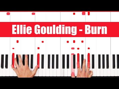 Burn Ellie Goulding Piano Tutorial - CHORDS