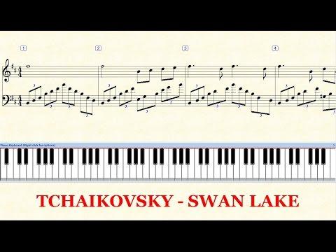 Piano Tutorial Sheet - TCHAIKOVSKY Swan Lake - HD