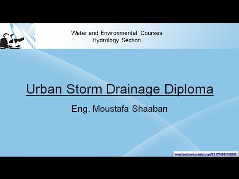 urban Storm drainage diploma