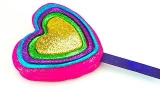 Пластилин для детей. Лепим мороженое в виде сердечка с блесками. Игрушкин ТВ