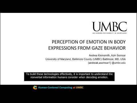 Perception of Emotion in Body Expressions from Gaze Behavior