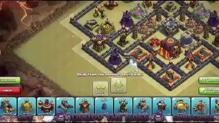 Clash of clans WAR BASE TH10 Endras 1 0 REPLAY 275 Walls Protected Town Hall 2015