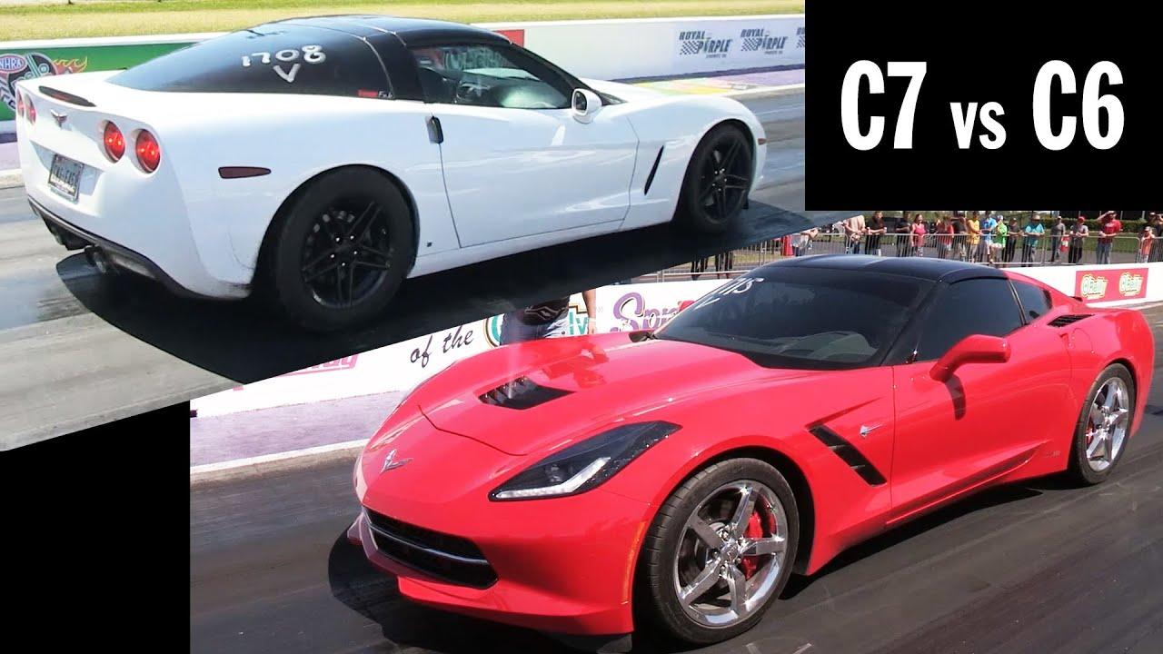 C7 Vs C6 10 Second Corvettes Great Race Youtube
