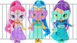 Shimmer and Shine Jail Rescue Game LOL Surprise Dolls Lil Sisters Color Change Pool Morning Routine!