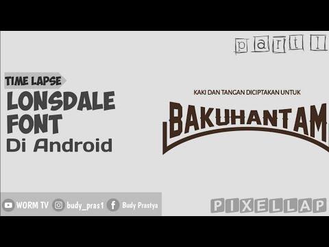 Buat Tulisan Melengkung / Lonsdale Di Android Mudah - Versi Cepat [1/2]