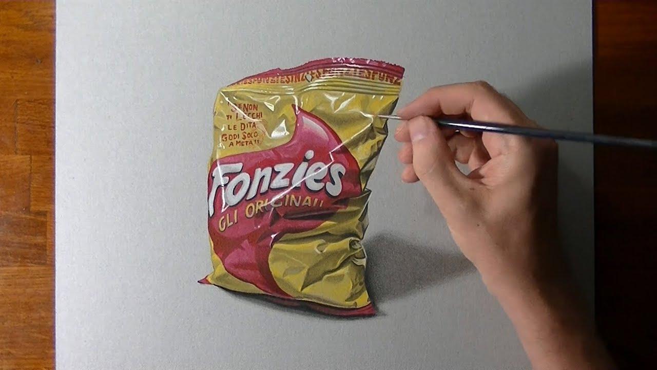 Disegno realistico in timelapse un pacchetto di fonzies for Disegno 3d free