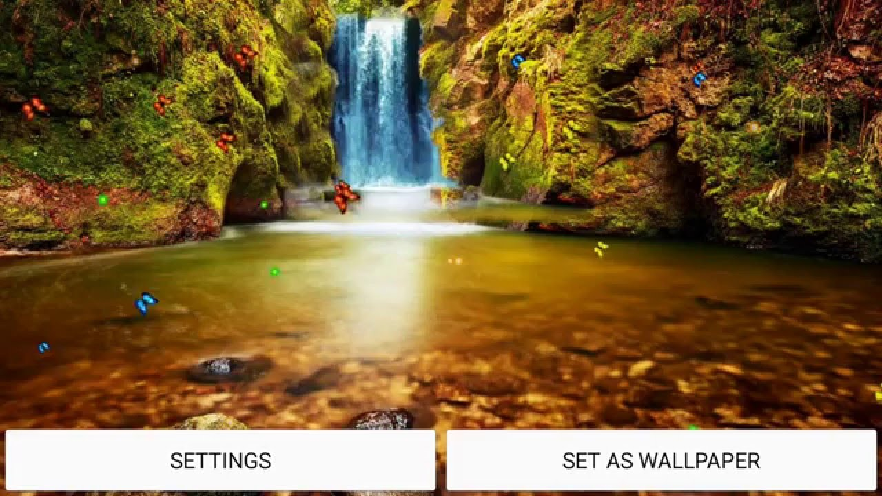 3d Universe Live Wallpaper Jungle Waterfall Live Wallpaper Youtube