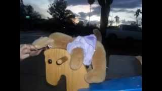 Build A Bears Riding Rocking Horse