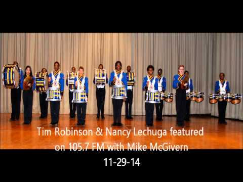 King Drumline members interviewed by Mike McGivern of 105.7 FM
