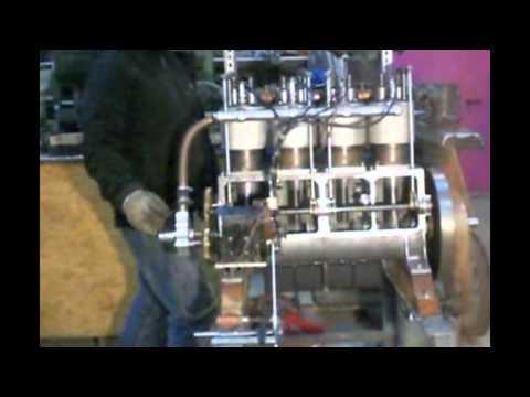 Wright Flyer Engine 1908  running