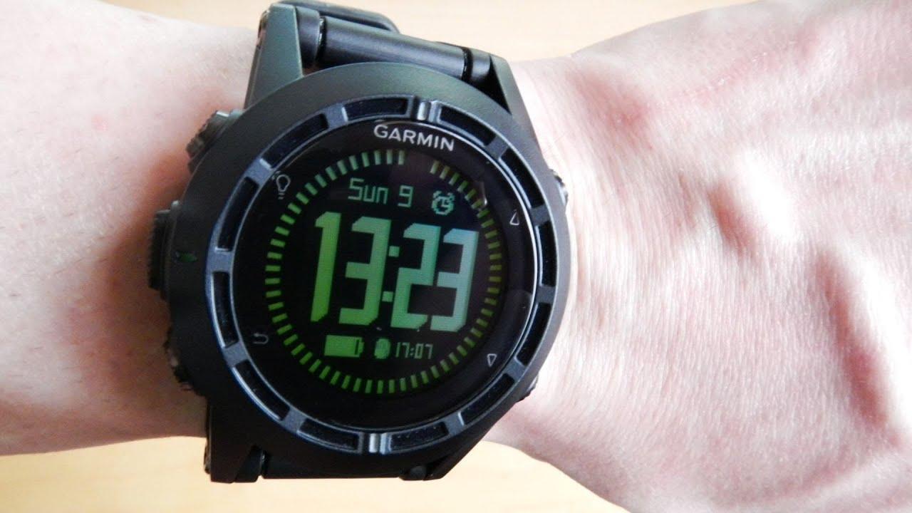 Garmin Sports Watch >> Garmin TACTIX Menu Review - YouTube