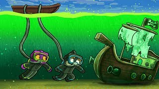 HOW TO SURVIVE IN TOXIC OCEAN WATER! (Minecraft Island Survival)