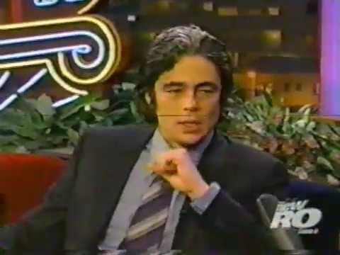 Tonight Show Jay Leno - Benicio Del Toro - Traffic - 2001