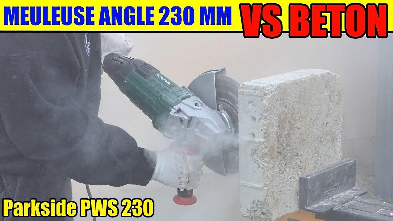 parkside meuleuse angle lidl pws 230 bloc beton test angle grinder winkelschleifer youtube. Black Bedroom Furniture Sets. Home Design Ideas