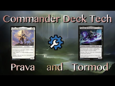 Prava Of The Steel Legion And Tormod The Desecrator Edh Mtg As an orzhov commander, a selenia player has access to the numerous black tutors, making this partner commanders krav, the unredeemed and regna, the redeemer are a demon and angel. prava of the steel legion and tormod
