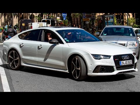 605hp AUDI RS7 SPORTBACK PERFORMANCE - Driving and sound 2016 HQ