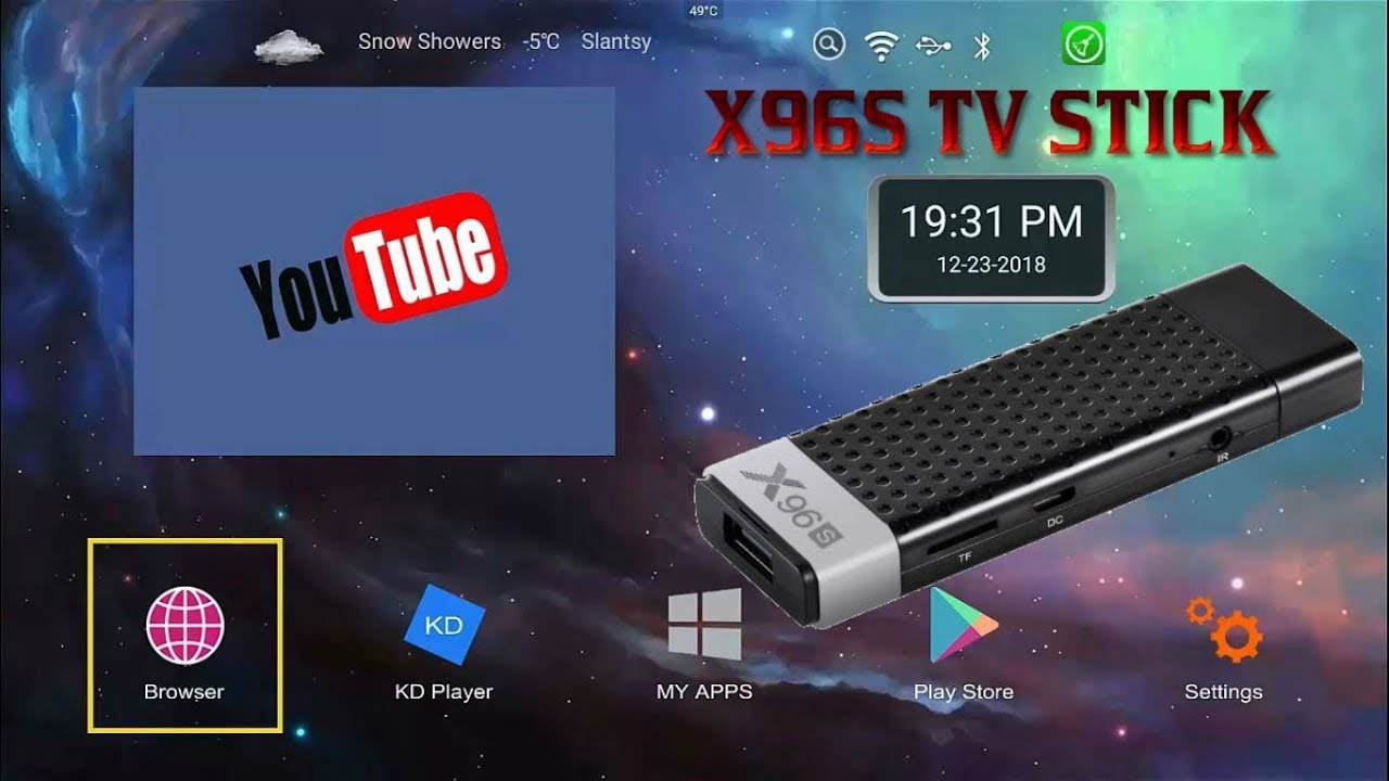 android tv stick x96s
