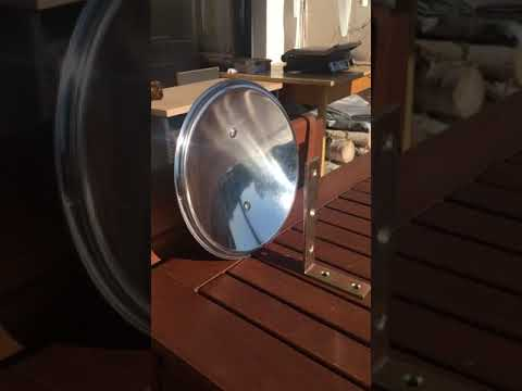 SOLAR PARABOLIC SUN RAY CONCENTRATOR, FREE GREEN ENERGY, WATER HEATER