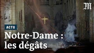 Incendie à Notre-Dame de Paris : premières photos de l'intérieur