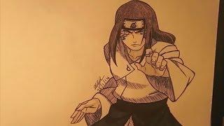 How to draw Neji Hyuuga -  Naruto