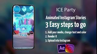 ICE Party After Effects Template Instagram Stories preview