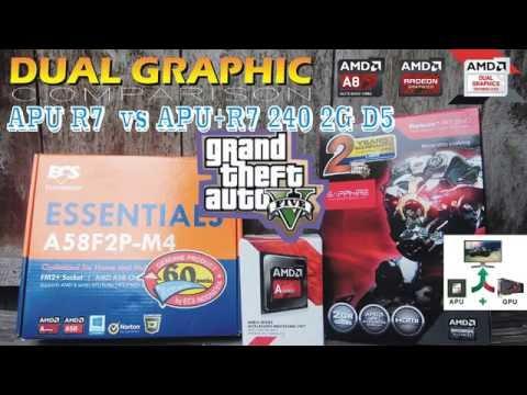 Dual Graphic AMD A8 7600 + Sapphire R7 240 2G D5 -GTA V