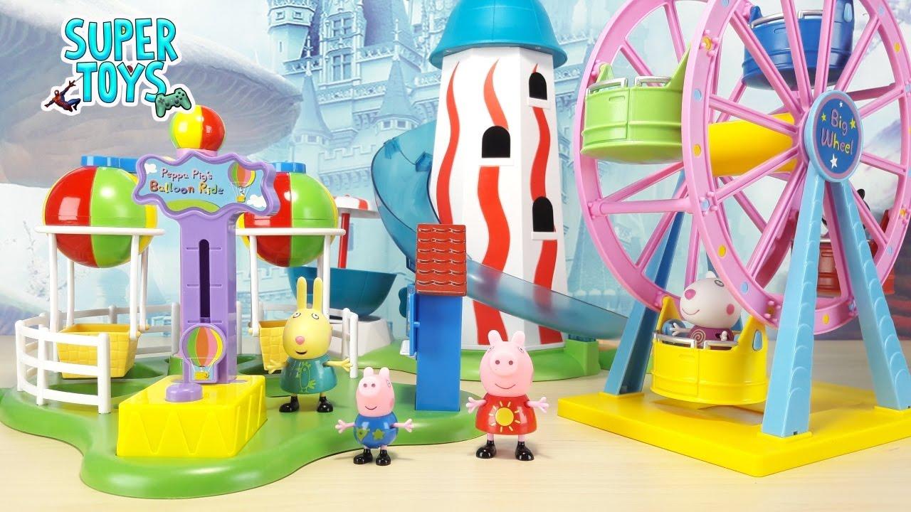 Peppa Pig Italiano Parco Giochi Gioco Per Bambini Nuovo Playset Per Il Parco Tematico Di Peppa Pig