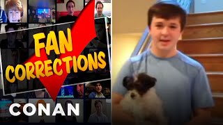 Fan Correction: Truman Wasn't President In 1955!  - CONAN on TBS
