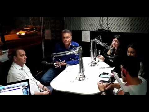 Alvaro Dias concede entrevista ao Jornal da Noite, da Radio 95FM Natal.