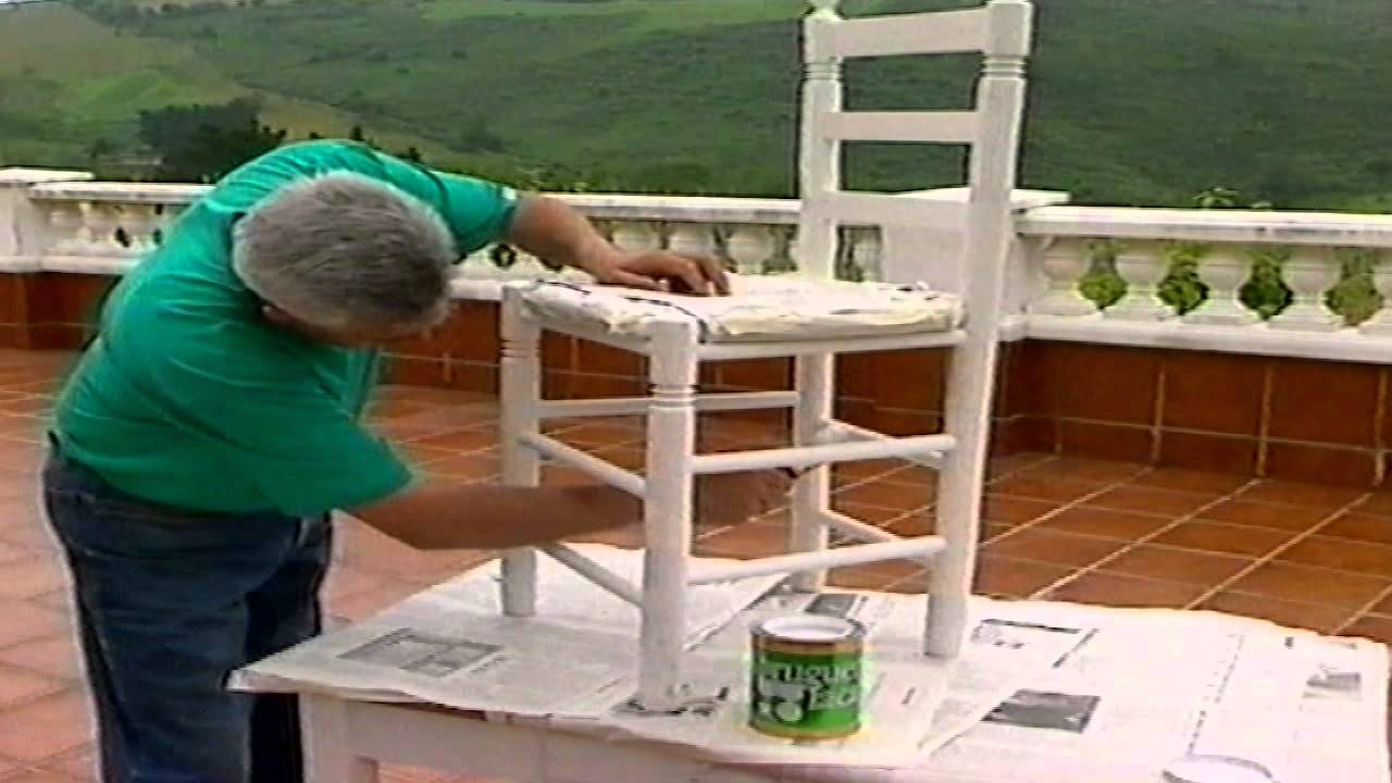 Pintar una silla youtube - Restaurar decorar y pintar muebles ...