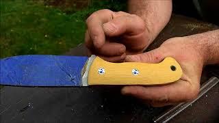 TomP Knifemaking - Knifemaking dla opornych: Szlifowanie rękojeści