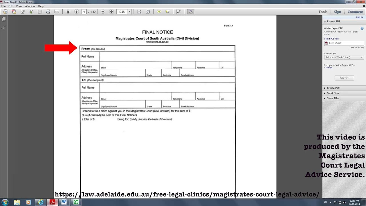 Form 1A- Final Notice of Claim - YouTube