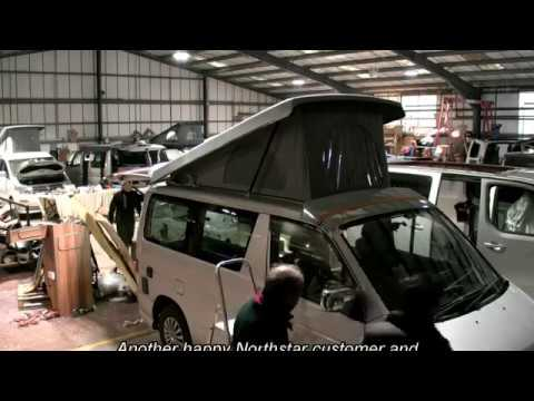 Time-lapse Elevating Roof fitting Northstar Conversions. Mazda Bongo, Drivelodge Poptop