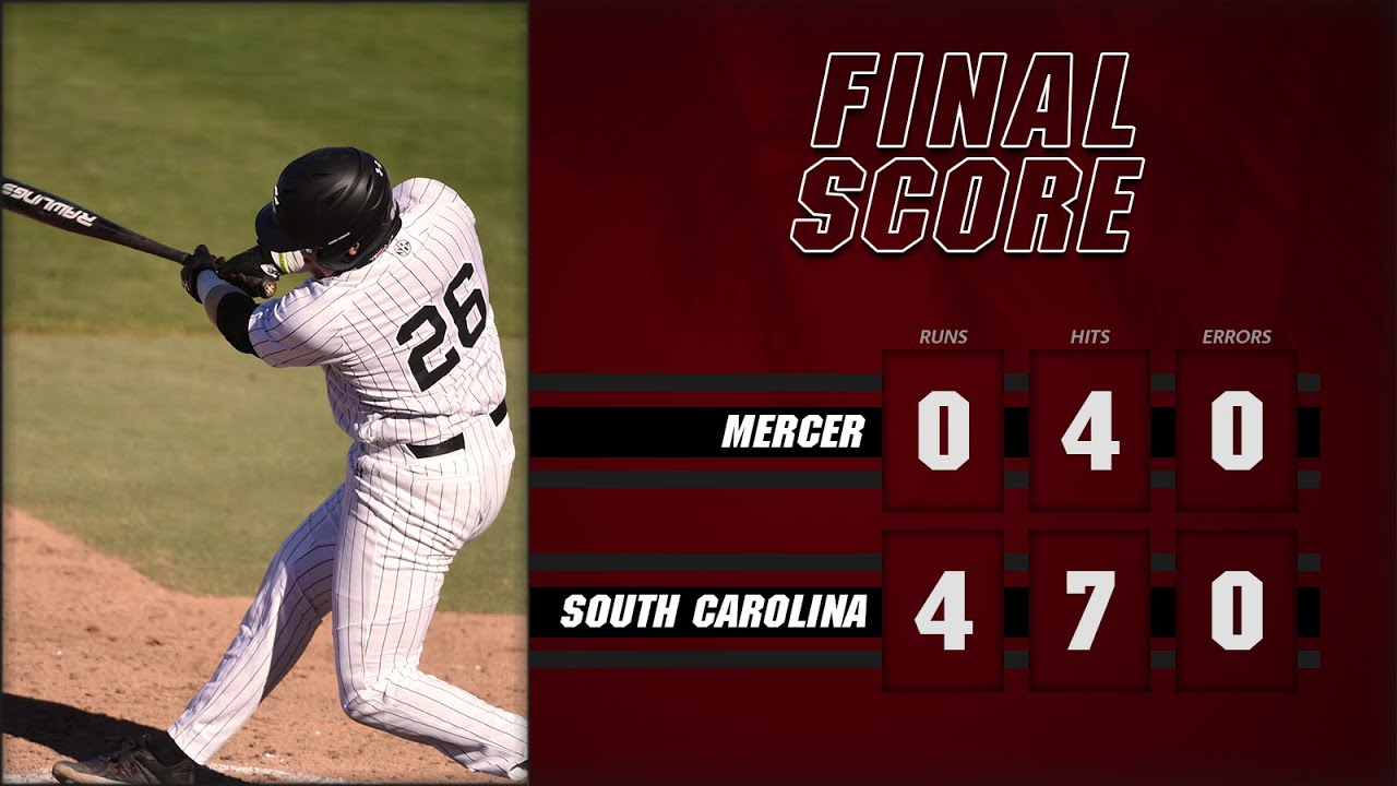 College ⚾️- #14 South Carolina Shuts out Mercer 4-0 to get series win! Postgame video