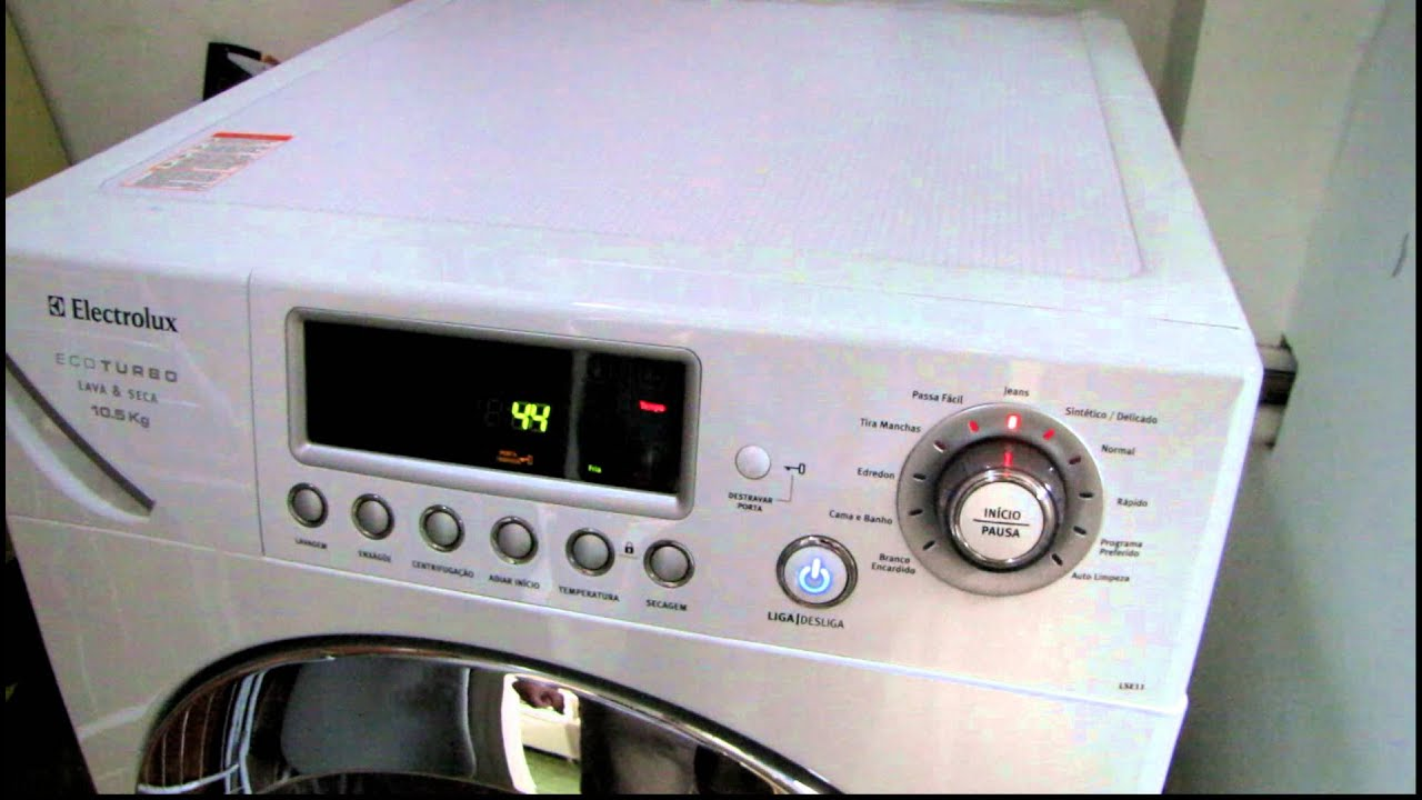 electrolux lava e seca lse11 eco turbo 10 5 kg youtube rh youtube com manual lavadora electrolux lse11 manual lavadora e secadora electrolux lse11