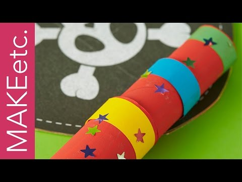 How to make a Cardboard Telescope - Craft idea for kids