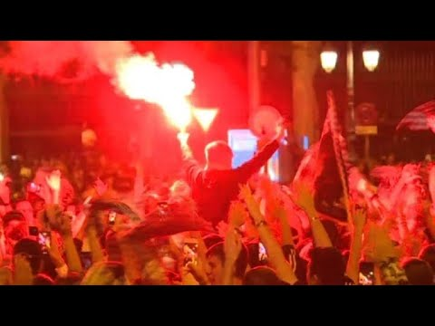 Madrid fans celebrate Champions League victory
