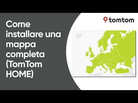 Per installare una mappa completa utilizzando TomTom HOME