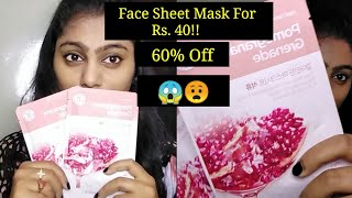 face sheet masks Just for Rs. 40 | The Face Shop Masks | Lavishka Jain