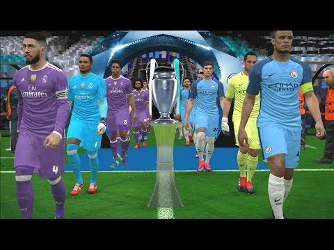 UEFA Champions League Final - Manchester City vs Real Madrid - PES 2017 Gameplay