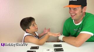 Super Fight ARGUE Challenge! Card Game HobbyPig Skybound Games HobbyKidsTV