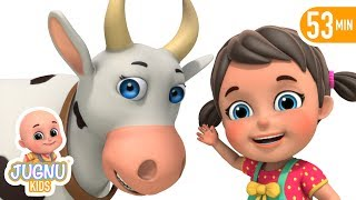 Meri Gaiya aati hai | Hindi poems - Cow Song |  Hindi rhymes for children by Jugnu Kids