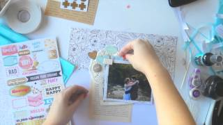 Scrapbooking Process Video ~ March Hip Kit ~ Eternity