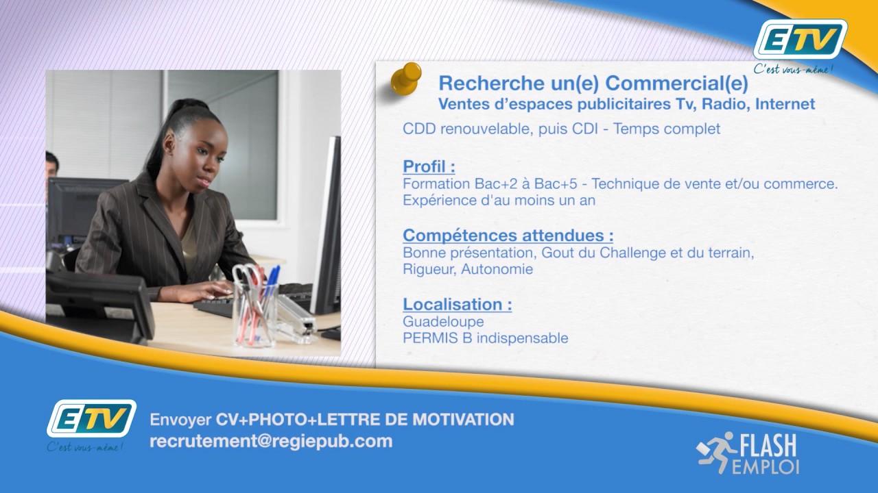 FLASH EMPLOI : Annonce ETV Recherche Commercial