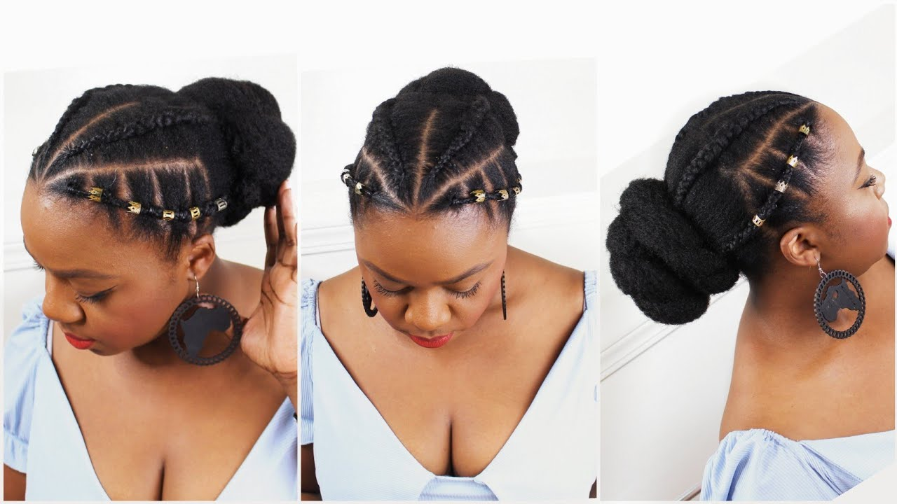 Protective Hairstyle For Natural Hair Short Medium Length Natural Hair Youtube
