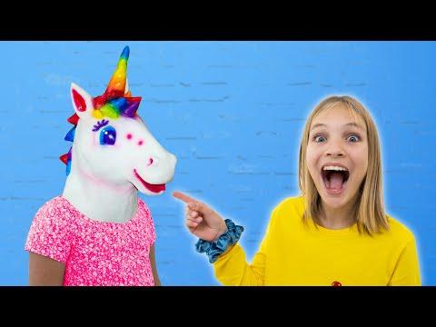 Amelia & Avelina fun family trip with Unicorn ride-on toy