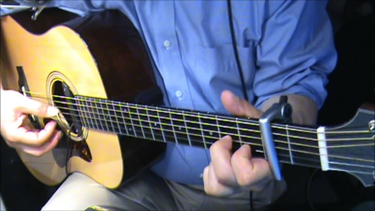 Ill Follow The Sun Beatles Guitar Chords Finger Style Youtube