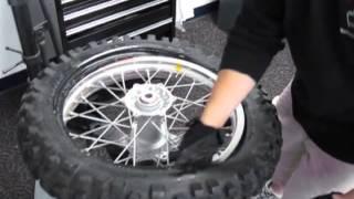 Dirt Bike Tire Change