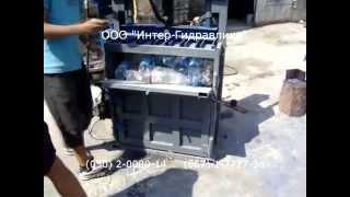 Прессование Пластиковой Бутылки ПЭТ на Гидравлическом Прессе