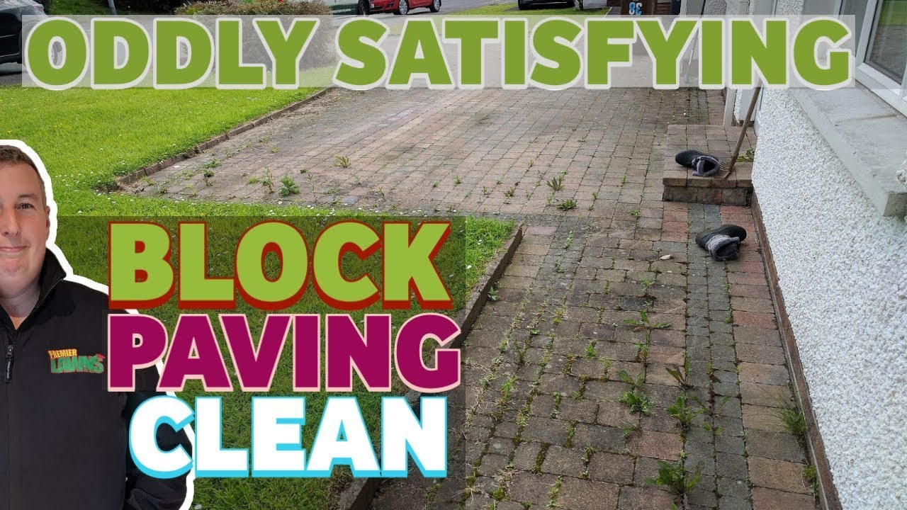 Cleaning a dirty driveway | Pressure washer gets it clean